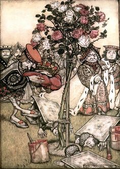 Chapter The Queen's Croquet Ground. Alice in Wonderland by Lewis Carroll - Arthur Rackham illustrations Arthur Rackham, Lewis Carroll, John Tenniel, Denis Zilber, Alice In Wonderland Illustrations, Painting The Roses Red, Adventures In Wonderland, Wonderland Alice, Book Illustration