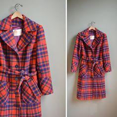 vintage plaid pendleton coat