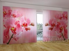 Pink Orchids #Wellmira #ModernCurtains #PhotoCurtains #PanoramicCurtains #Foto Vorhänge #Foto cortinas #Orchids