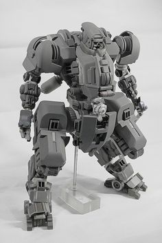 T.O.A.D. Unit Tactical Operations Advance Digitigrade Unit. 1/20 Model Kit fully scratch built mech. ready for recast.