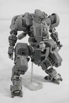 T.O.A.D. Unit Tactical Operations Advance Digitigrade Unit. 1/20 Model Kit fully scratch built mech. ready for recast.