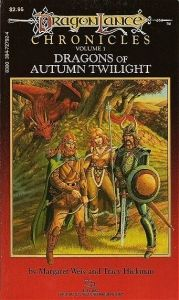 Dragons of Autumn Twilight is a fantasy novel by Margaret Weis and Tracy Hickman, based on a series of Dungeons & Dragons (D) game modules. Written in 1984, Dragons of Autumn Twilight was the first Dragonlance novel, and first in the Chronicles trilogy, which, along with the Dragonlance Legends trilogy, are generally regarded as the core novels of the Dragonlance world.