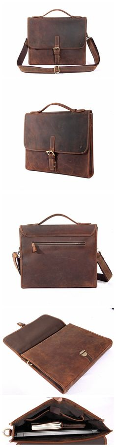 HANDCRAFTED VINTAGE MEN LEATHER BAG, MEN BRIEFCASE, LAPTOP BAG