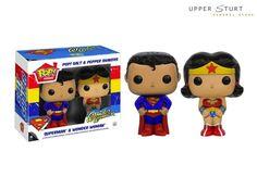Pop! Home: Superman & Wonder Woman Salt N' Pepper Shakers FAST 'N FREE DELIVERY