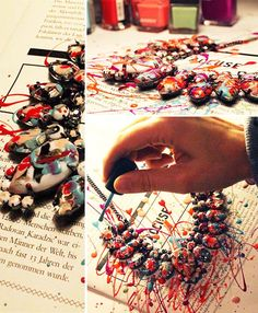 DIY Neon-Kette // #diy #necklace #nailpolish