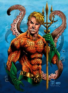 Aquaman --- Pencils by Inks by comic-eeb→[Inks] Color by Lazaer (me)--- [©Arthur Curry/Aquaman is a ch. Aquaman Dc Comics, Arte Dc Comics, Dc Comics Superheroes, Dc Comics Characters, Dc Comic Books, Comic Art, Marvel Vs, Marvel Comics, Aquaman Movie 2018