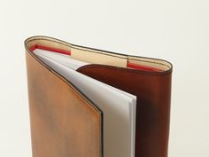 Variable leather book cover 5 different colours for by UrWerk, €46.00