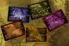 Preview of the card backs for the five main card types in Goblins Alternate Realities