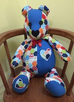Hey, I found this really awesome Etsy listing at https://www.etsy.com/uk/listing/494530978/stuffed-patchwork-bear-birthday-gift