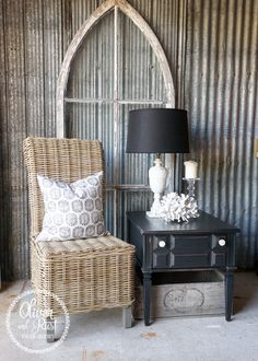 Oliver and Rust: Rustic Coastal Black end tables and piping extravaganza