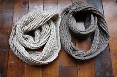 Crochet circle scarves. I can make these for fall for sure.
