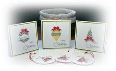 Clearly Besotted card trio