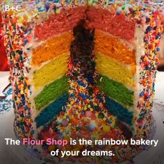 It doesn't get more colorful than this bakery!
