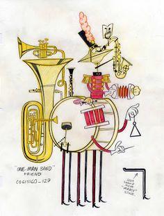 One Man Band Illustration