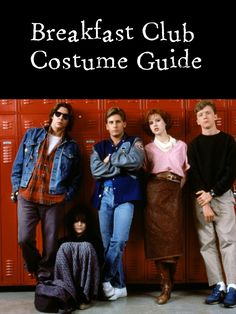 costume guide for all the characters of Breakfast Club - great for groups and couples!  Full guide at: http://costumeplaybook.com/movies/1752-breakfast-club-costumes/ #IMissThe80s