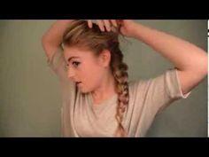 """Video of Elsa hair tutorial from Disney's """"Frozen"""" for fans of Elsa the Snow Queen. Frozen (2013)"""
