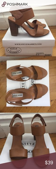 Sandals Steve Madden Very good condition! 100% Leather Steve Madden Shoes Sandals