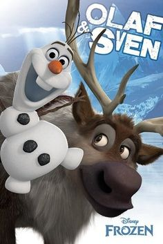 """Meet Olaf and Sven in the new movie, """"Frozen"""""""
