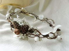 Winter Fairy Crown Woodland Wedding Hair by TwoCatsAndAnOwl