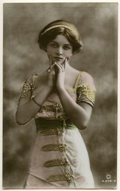 Dame Gladys Cooper - hand-tinted, possibly by Bossano, 1910 National Portrait Gallery, London