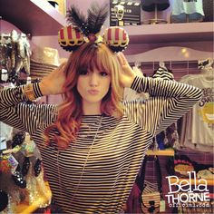 Bella Thorne Mickey Mouse ears, I swear this is TrenD in disney? I've tried these ears on in there and the shop behind looks similar. Bella Thorne Instagram, Caroline Sunshine, Bella Thorne And Zendaya, New Twitter, Zendaya Coleman, Celebs, Celebrities, Role Models, Her Hair