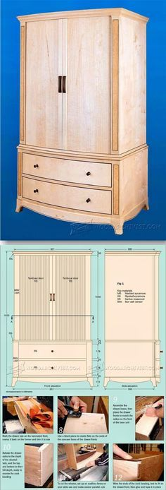 Sycamore Wardrobe Plans - Furniture Plans and Projects   WoodArchivist.com