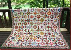 Bonnie's Nearly Insane quilt top finished! See great scrappy blocks from Bonnie for QM here: http://www.quiltmaker.com/addicted_to_scraps/index.html
