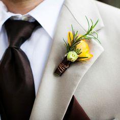 Brides: Groom's Boutonniere Ideas | Wedding Ideas