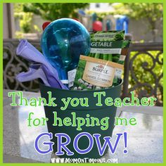 Teacher Appreciation Gift Idea: Garden Set - Mom On Timeout Teacher gifts Teacher Treats, Your Teacher, School Teacher, Teacher Gifts, Teacher Presents, Student Gifts, Help Me Grow, Teacher Appreciation Week, Garden Gifts