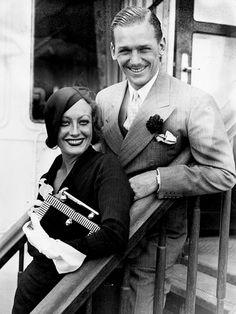 Joan Crawford with Douglas Fairbanks Jr, 1932.