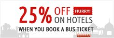 Best offer ever....... Get redbus introducing hotels .you will find hotels in different cities . No need to use any coupon code. Click to get the Landing Page. Limited period offer.