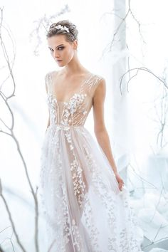 These Intricate Wedding Dresses Are the Exact Opposite of Generic via /WhoWhatWear/