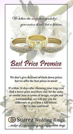 Suarez Wedding Rings in Philippines, Cebu City, Quezon City, Davao City, IloIlo City and Mindanao - High Quality Wedding Rings Designs | Suarez Engagement Rings | Suarez Braided Rings | Suarez Earrings - Suarez Wedding Rings Products Warranty