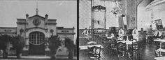 Fachada del Teatro Politeama al interior del Portal Edwards. En Album de Santiago y Vistas de Chile, 1915.- El Casino del Portal Edwards, tenía una sección de confitería y pastelería, un salón para señoras, sala de billar y un bar, que era frecuentado por la juventud de la época. Revista Sucesos, 1905.