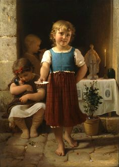 """""""Give me for my Chapel"""", 1867, by Leon-Jean-Basile Perrault (French, 1832-1908)."""