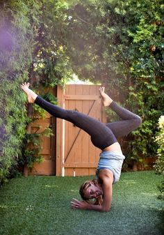 27 Mind-Blowing Inversions From Rockstar Yogis. Something I would very much like to do one day, even just a basic headstand would be enough. Long way to go