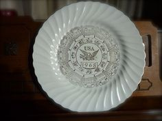 VINTAGE 1968 Sheffield China Calendar Plate by WindChimeGirl