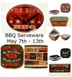 Fun and colorful melamine serveware on sale for your backyard BBQ.  Orders your now while quantities last!