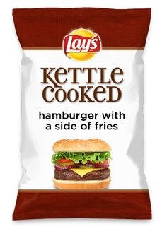 Wouldn't hamburger with a side of fries be yummy as a chip? Lay's Do Us A Flavor is back, and the search is on for the yummiest flavor idea. Create a flavor, choose a chip and you could win $1 million! https://www.dousaflavor.com See Rules.