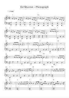 play popular music, Photograph - Ed Sheeran , free piano sheet music