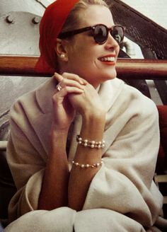 Grace Kelly 1956- aboard the SS Constitution on her way to get married in Monaco