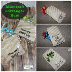 ADORABLE Minecraft Party Scavenger Hunt!
