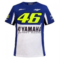 2017 Valentino Rossi Factory Racing Team Moto GP for Yamaha T-shirt Blue  White 10a5c8d6024