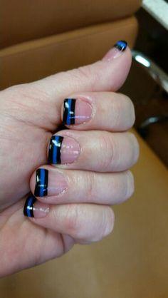 Law Enforcement Support Nails. Thin Blue Line. #policelivesmatter