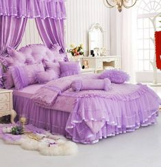 Princess Bedroom Set Twin Princess Bedroom Set Twin Trendy kitchen ideas modern design granite 54 ideas Charming Lavender Tulle Flowers Long Prom Dress, Sweet 16 Gowns – BeMyBridesmaid names of different shades of purple Sleigh Bedroom Set, Wood Bedroom Sets, Bedroom Decor, Bed Sets, Bed Duvet Covers, Duvet Cover Sets, Wedding Bed, Lace Bedding, Purple Bedrooms