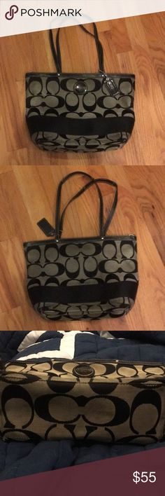 Coach black purse Good condition! No major issues, purse strap is currently no on but comes with the strap, as seen in person can be put back on! Coach Bags Shoulder Bags