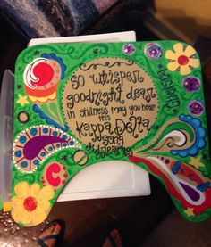 Kappa delta crafts #kappadelta #lapboard #AOT