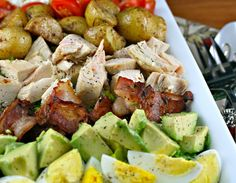 Composed Salad with Lemon-Yogurt Dressing by theperfectpantry #Salad #Lemon #Yogurt