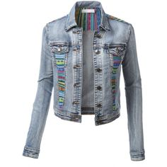 3e3d4e201d011 These cropped long sleeve denim jean jacket never go out of style! You can  wear it with absolutely any outfit for an instant casual look.