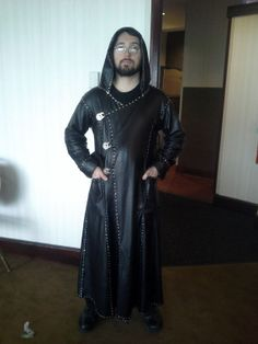 Plonge and Rivets No Sew Leather Long Coat by AttentionSpanGames, $1600.00